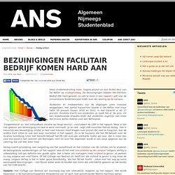 ANS: Bezuinigingen Facilitair Bedrijf komen hard aan