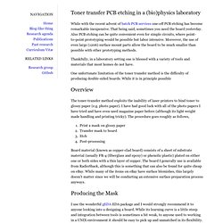 bgamari.github.com - Toner transfer PCB etching in a (bio)physics laboratory