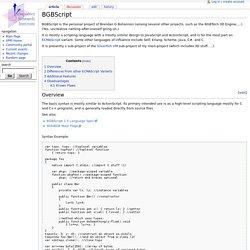 BGBScript - VpriWiki