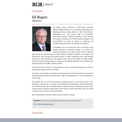 BGR Public Relations — Ed Rogers