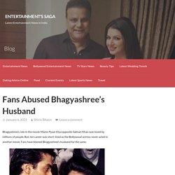 Fans Abused Bhagyashree's Husband