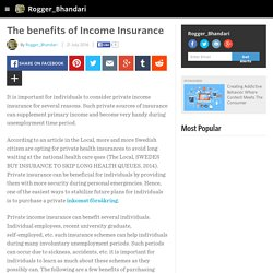The benefits of Income Insurance