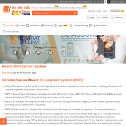 Bharat Bill Pay: Real time Bill Payment Services by Bharat Bill Pay App