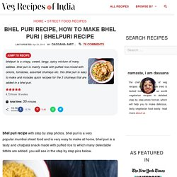 bhel puri recipe, how to make bhel puri