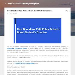 How Bhondawe Patil Public Schools Boost Student's Creative.