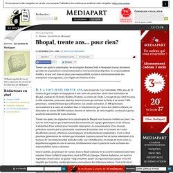 Bhopal, trente ans... pour rien?