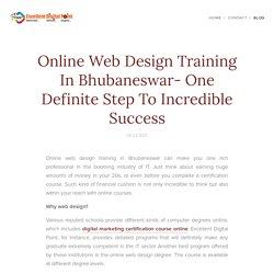 Web design training in Bhubaneswar