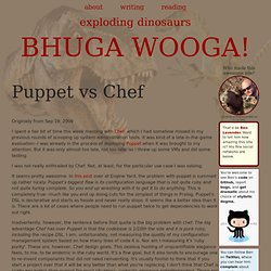 Puppet vs Chef | BHUGA WOOGA!