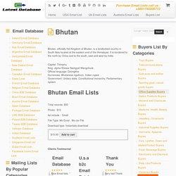 Bhutan Email Lists