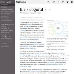 Biais cognitif - Wikiwand