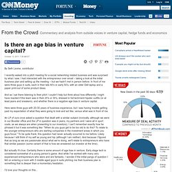 Is there an age bias in venture capital?