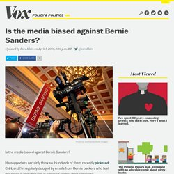 Is the media biased against Bernie Sanders?