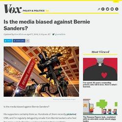 Is the media biased against Bernie Sanders?