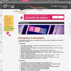 Bibilographie sur l'ergonomie des sites web