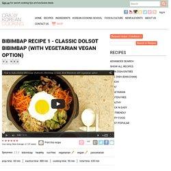How to make Dolsot Bibimbap, Korean stone bowl bi bim bap recipe with vegetarian option
