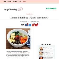 Vegan Bibimbap (Mixed Rice Bowl)