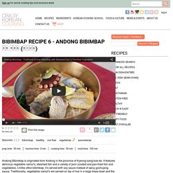 How to make Andong Bibimbap