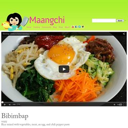 Bibimbap (Mixed rice with vegetables) recipe
