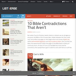 10 Bible Contradictions That Aren't