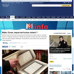Bible, Coran, lequel est le plus violent ?
