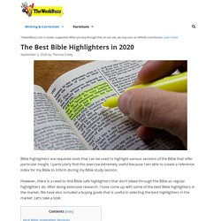12 Best Bible Highlighter Reviewed and Rated in 2020
