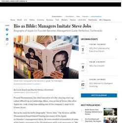 Bio as Bible: Managers Imitate Steve Jobs