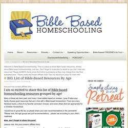 Bible-Based Resources for Homeschool