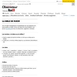 """La """"bible"""" orthographique et typographique de Rue89"""