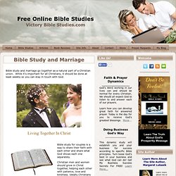 Bible Study and Marriage