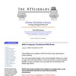 Bible Translations in PDF