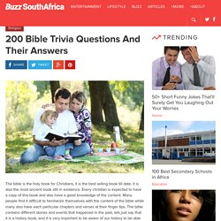 200 Bible Trivia Questions And Their Answers