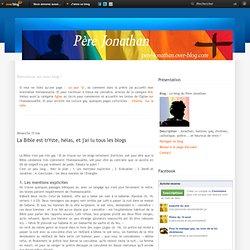 L'homosexualité dans la Bible - Le blog du Père Jonathan