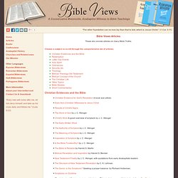 Bible Views' Articles