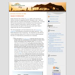 Blog: Qeiyafa: Is it biblical Gob?