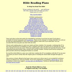 BiblePlan -- Helping You Read The Bible