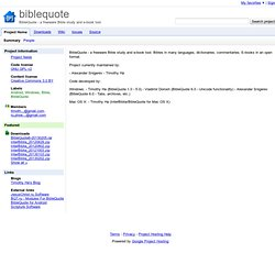biblequote - BibleQuote - a freeware Bible study and e-book tool