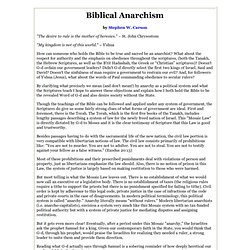 Biblical Anarchism