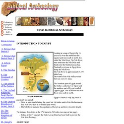 4 - Biblical Archeology during the Egyptian Period