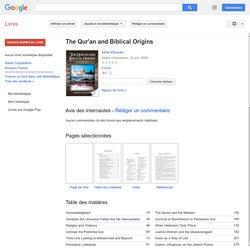 The Qur'an and Biblical Origins - Asher Elkayam - Google Books
