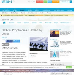 Biblical Prophecies Fulfilled by Jesus