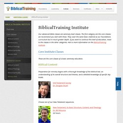 BiblicalTraining Institute