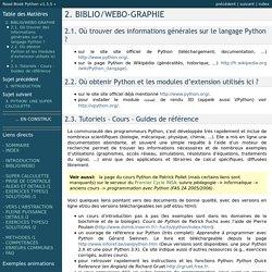 2. BIBLIO/WEBO-GRAPHIE — Road Book Python v1.3.5