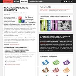 Biblioannuaire.fr - Annuaire des fournisseurs pour bibliothèques - KIOSQUE NUMERIQUE DE L'EDUCATION