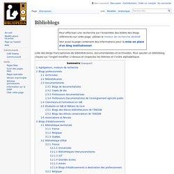 Biblioblogs — Bibliopedia