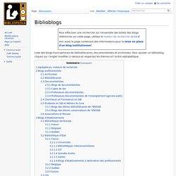 Biblioblogs