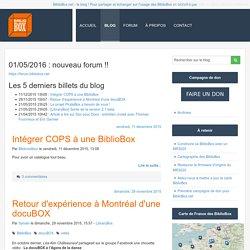 Le blog de l'actualité des Bibliobox