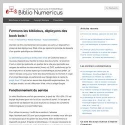 Fermons les bibliobus, déployons des book bots ! - Biblio Numericus