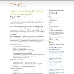 les offres d'emploi contractuel en bibliothèque