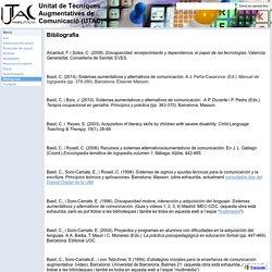 Bibliografia - Unitat de Tècniques Augmentatives de Comunicació (UTAC)