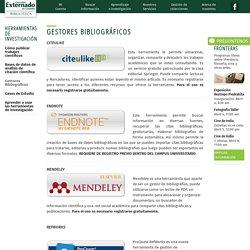 Gestores Bibliográficos : Biblioteca Universidad Externado